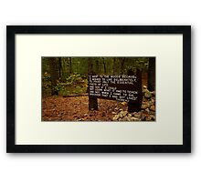 Thoreau in the woods Framed Print