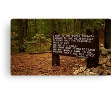 Thoreau in the woods Canvas Print