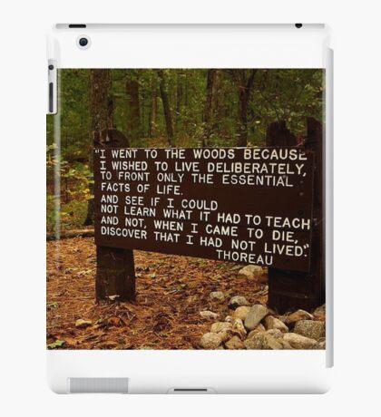 Thoreau in the woods iPad Case/Skin