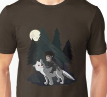 The White Wolf - Cute Style (No Blood) Unisex T-Shirt