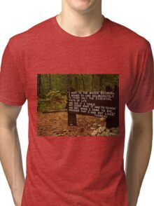 Thoreau in the woods Tri-blend T-Shirt