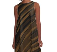 black and brown streaks A-Line Dress