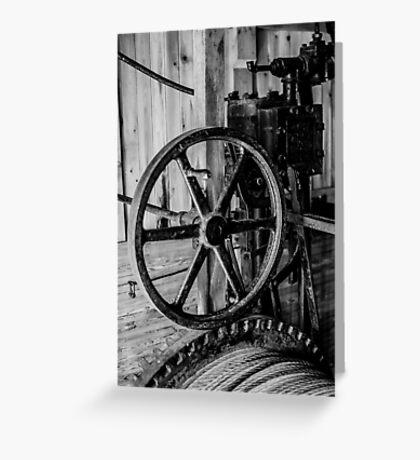 Antique Engine, Logging Museum, Algonquin Park Greeting Card