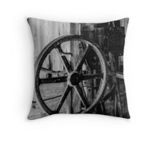 Antique Engine, Logging Museum, Algonquin Park Throw Pillow