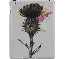 Thistle (Grey Background) iPad Case/Skin