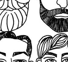 Beards. (plural) Sticker