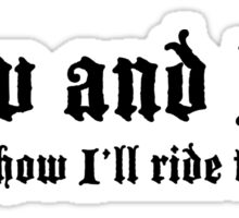 Low and Slow Lowrider design Sticker