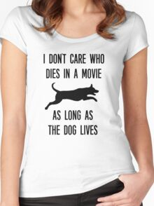 Funny As Long As The Dog Lives Shirt Women's Fitted Scoop T-Shirt