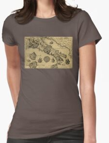 maps Womens Fitted T-Shirt