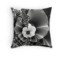 I send you wild fractal flowers... Throw Pillow