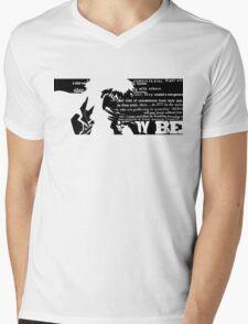 Spike Cowboy bebop Black Mens V-Neck T-Shirt