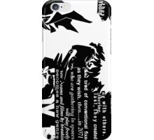 Spike Cowboy bebop Black iPhone Case/Skin