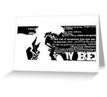 Spike Cowboy bebop Black Greeting Card