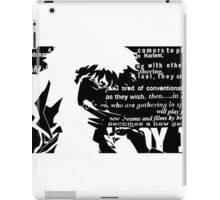 Spike Cowboy bebop Black iPad Case/Skin
