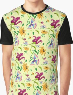 Pretty Wild Flowers Floral Pattern Graphic T-Shirt