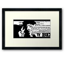 Spike Cowboy bebop White Framed Print