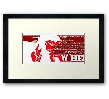 Spike Cowboy bebop Red Framed Print