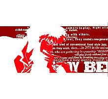 Spike Cowboy bebop Red Photographic Print