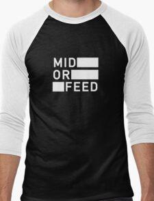 Mid Or Feed Men's Baseball ¾ T-Shirt