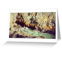 sea cave Greeting Card