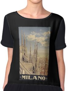 Milano' Vintage Poster (Reproduction) Chiffon Top