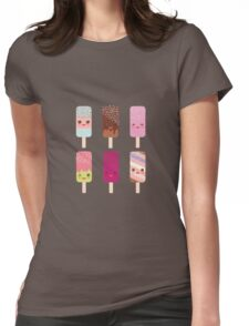 Yummy icecreams Womens Fitted T-Shirt