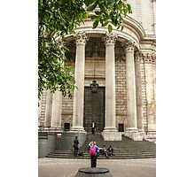 Leaving St Paul's Cathedral Photographic Print