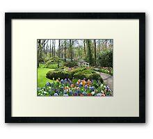 Little Bridge - Keukenhof Gardens Framed Print