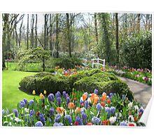 Little Bridge - Keukenhof Gardens Poster