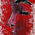 Red portrait. by Rachel Kelly