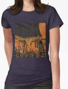 Northern Norwegian Urban Night Womens Fitted T-Shirt