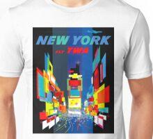 """TWA FLY TO NEW YORK"" Art Deco Print Unisex T-Shirt"