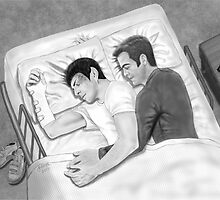 Kirk and Spock Sleeping by artbycheryllyne