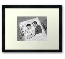 Kirk and Spock Sleeping Framed Print