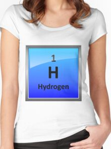 Hydrogen Element Tile - Periodic Table Women's Fitted Scoop T-Shirt