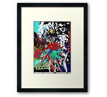 Explosive collage Framed Print