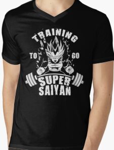 Training To Go Super Saiyan (Vegeta) Mens V-Neck T-Shirt