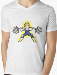 You Can't Spell LEGENDARY Without LEG DAY (Vegeta) Mens V-Neck T-Shirt