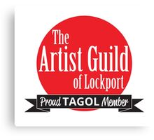 Proud TAGOL Member Insignia - Medium Logo Canvas Print