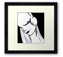 Headphone Vector. Framed Print