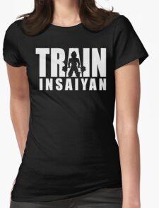 TRAIN INSAIYAN (Iconic Deadlift) Womens Fitted T-Shirt