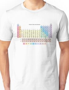 2016 Periodic Table with all 118 Element Names Unisex T-Shirt