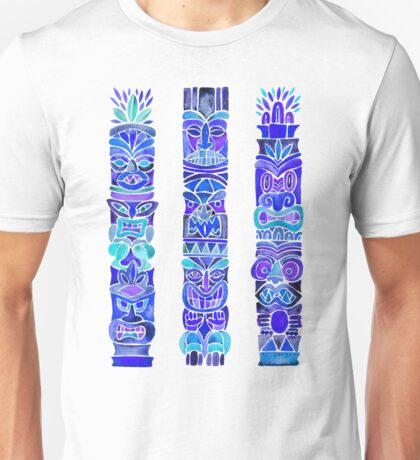Tiki Totems – Indigo Palette Unisex T-Shirt