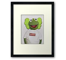 Kermit x kaws  Framed Print