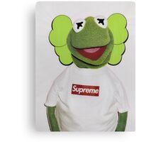 Kermit x kaws  Canvas Print