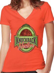 Knockback Nectar Women's Fitted V-Neck T-Shirt