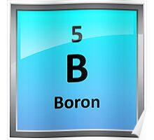 Boron Element Tile - Periodic Table Poster