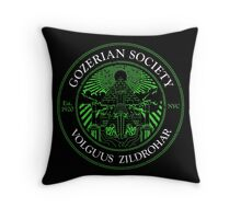 Gozerian Society - Green Slime Variant Throw Pillow
