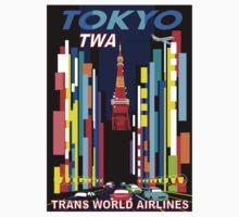 """TWA"" Fly to Tokyo Travel Print Kids Tee"