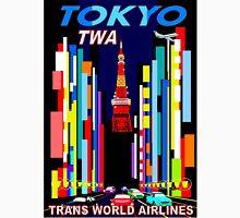"""TWA"" Fly to Tokyo Travel Print Unisex T-Shirt"